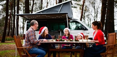 Christmas Dining in a Camper